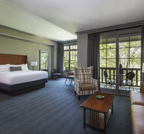 The Lodge at Ballantyne, Charlotte North Carolina King Hotel Room with Balcony | Meeting Retreat, Wedding Venue