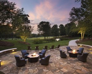 The Lodge at Ballantyne, Charlotte North Carolina Meeting Retreat, Wedding Venue, Stone Patio