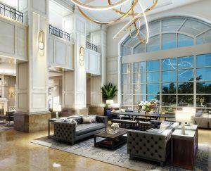 The Ballantyne Charlotte Hotel Lobby