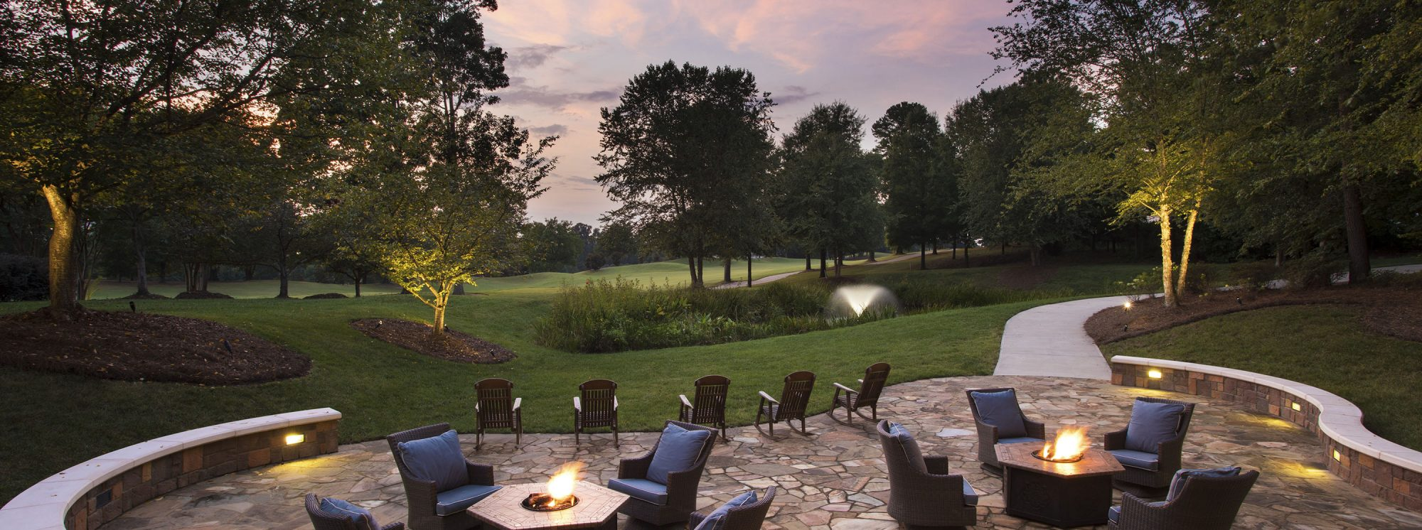 The Lodge At Ballantyne Charlotte Relaxing Stone Patio