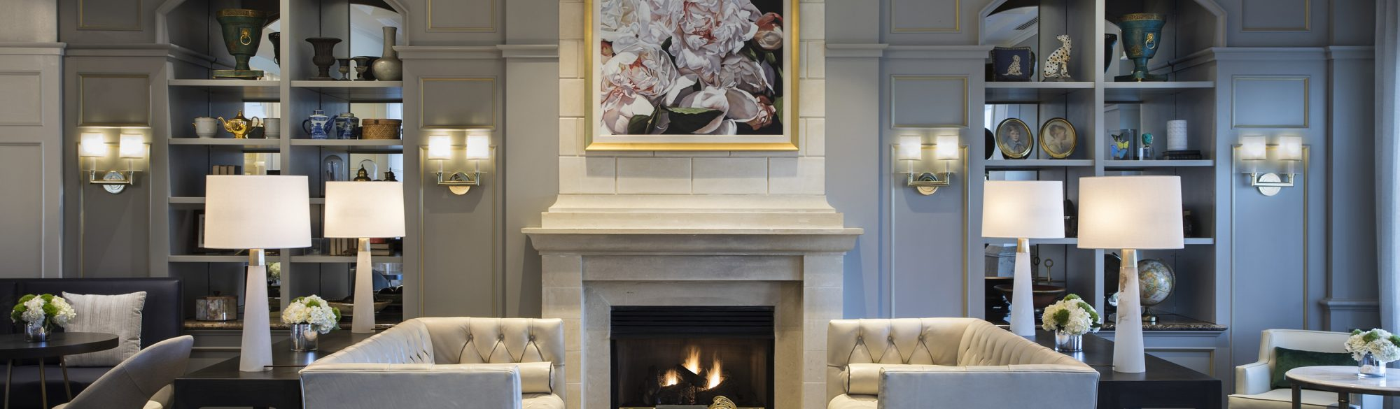 The Lobby Fireplace at The Ballantyne, Charlotte